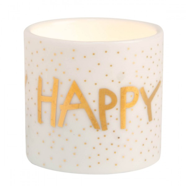 "Teelichthalter Helle Freude ""Happy"""