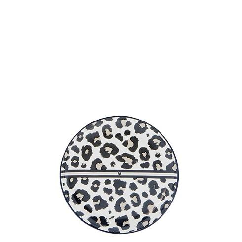Bastion Collections Kleines Tellerchen/Teebeutelablage/Tea Tip White / Leopard Heart