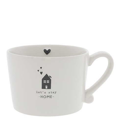 Bastion Collections Cup White / Let's stay at Home, Black