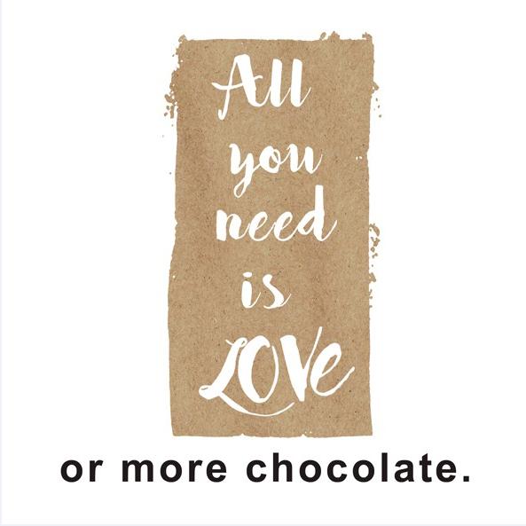 Kleine Papierserviette All you need is Love