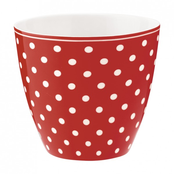 Greengate Latte Cup Spot Red