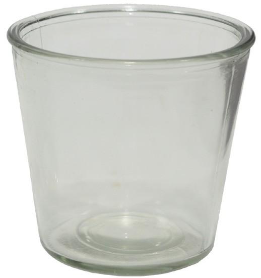 Glasbehälter aus Pressglas, mittel