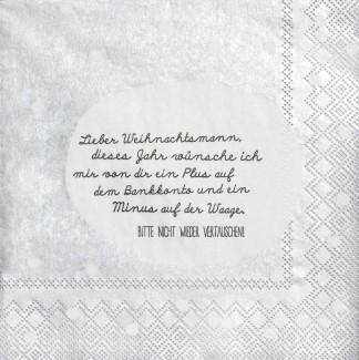 """Räder Papierserviette """"Lieber Weihnachtsmann"""""""