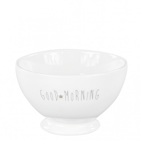 Bastion Collections Schale / Bowl White, Good morning in Grey