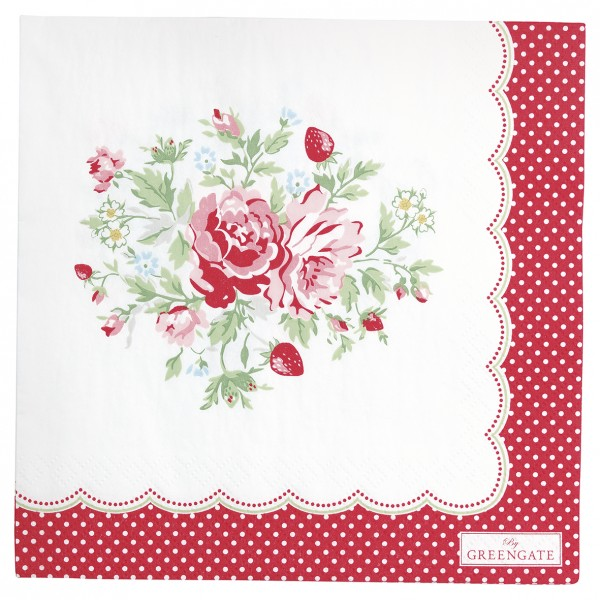 GreenGate Papierserviette Mary white