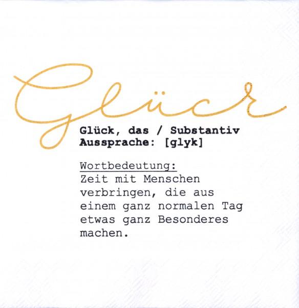 """Räder Kleine Papierserviette """"Glück"""""""