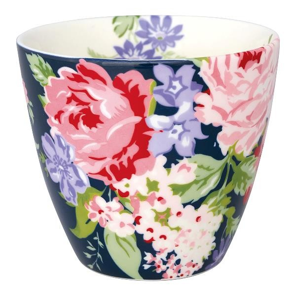 Greengate Latte Cup Rose dark blue
