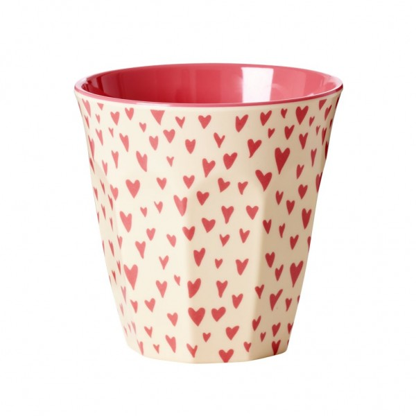 Rice Melamin Becher, Small Hearts Print