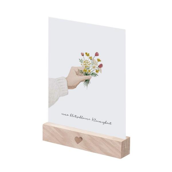 Eulenschnitt Postkartenständer NATUR im 2er Set, 10,5 cm