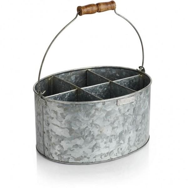 Humdakin Zinkeimer Iron Bucket, oval