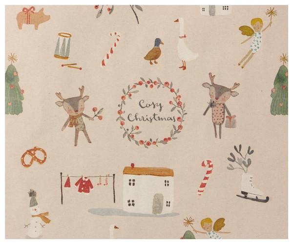 Maileg Geschenkpapier Cozy Christmas, 10 mtr