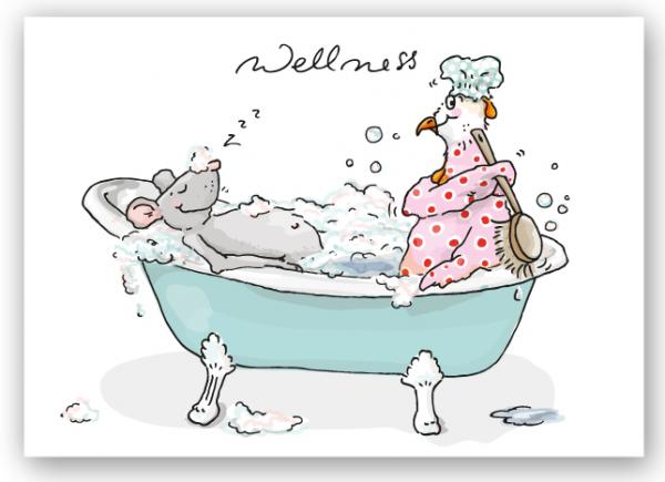 Krima & Isa Postkarte Wellness