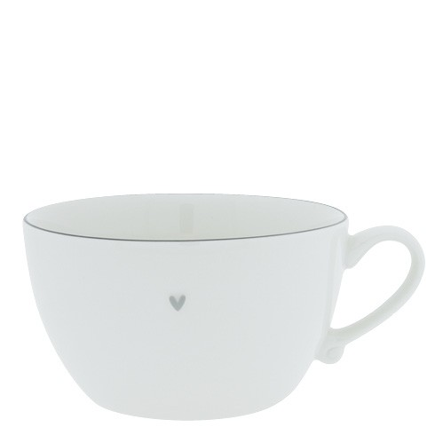 Bastion Collections Suppentasse / Soup Bowl White with Grey Edge