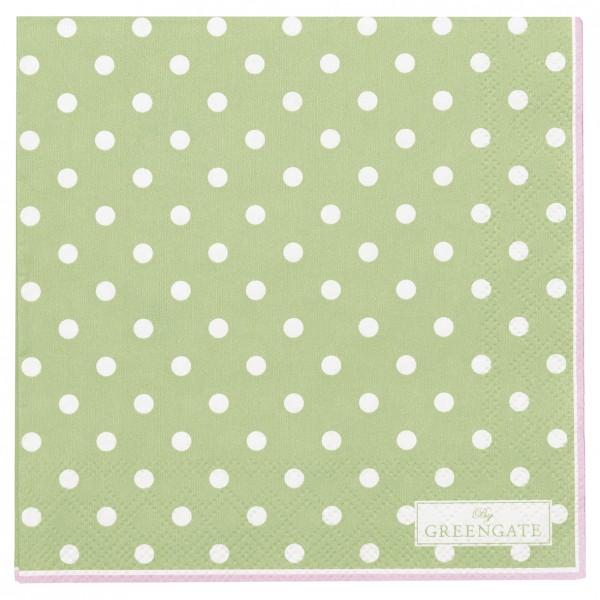 GreenGate Kleine Papierserviette Spot pale green