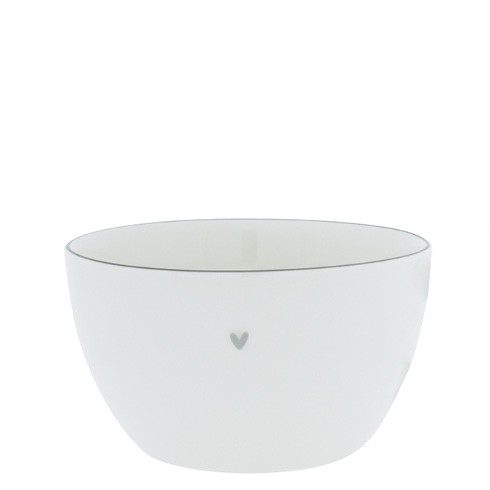 Bastion Collections Bowl Medium White with Grey Edge