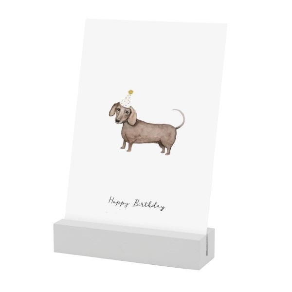 Eulenschnitt Postkartenständer WEISS im 2er Set, 10,5 cm