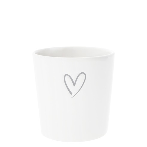 Bastion Collections Becher / Mug White/New heart in Grey