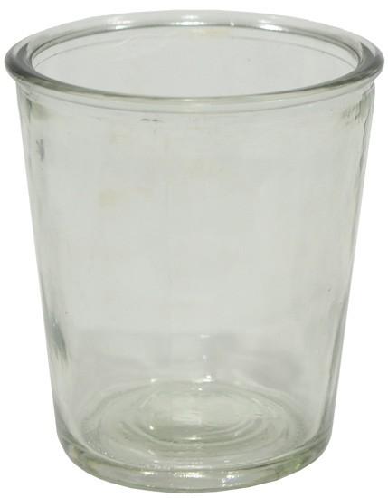 Glasbehälter aus Pressglas, groß