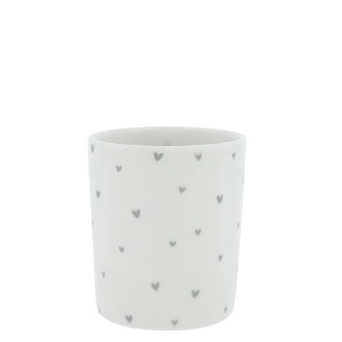 Bastion Collections Becher / Mug Little Hearts, Grey, SS21