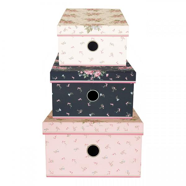Greengate Aufbewahrungsboxen Marley Pale Pink im 3er Set