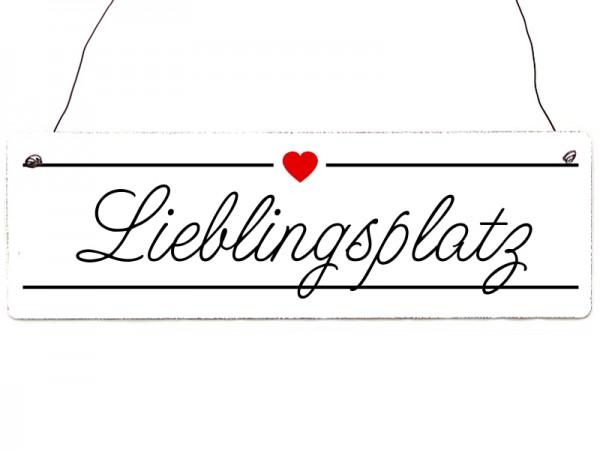 "Holzschild ""Lieblingsplatz"""