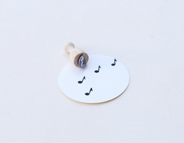 Perlenfischer Stempel Musiknote, mini