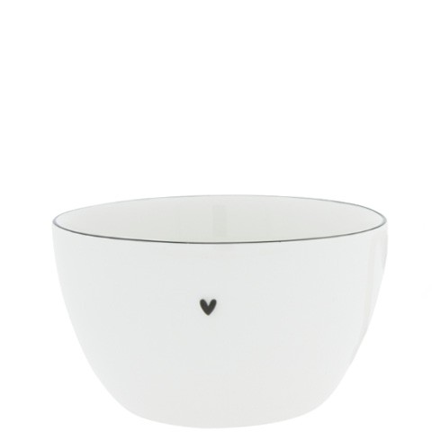 Bastion Collections Bowl Medium White with Black Edge