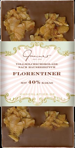Vollmilch Schokolade, Florentiner, 100 g
