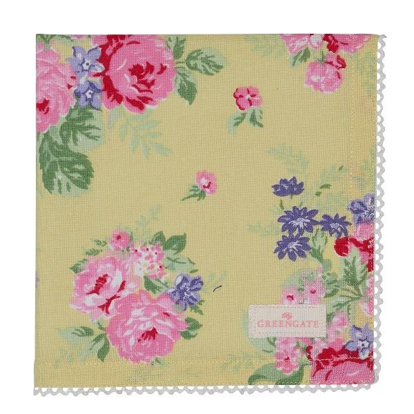 GreenGate Stoffserviette Rose Pale Yellow, ltd. Edition