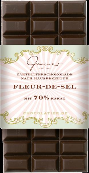 Zartbitter Schokolade, Fleur-de-Sel, 100 g
