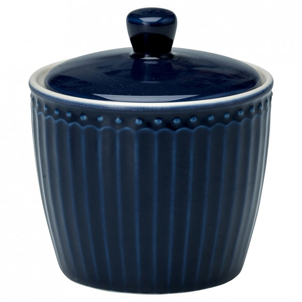 GreenGate Zuckerdose / Sugar Pot, Alice Dark Blue