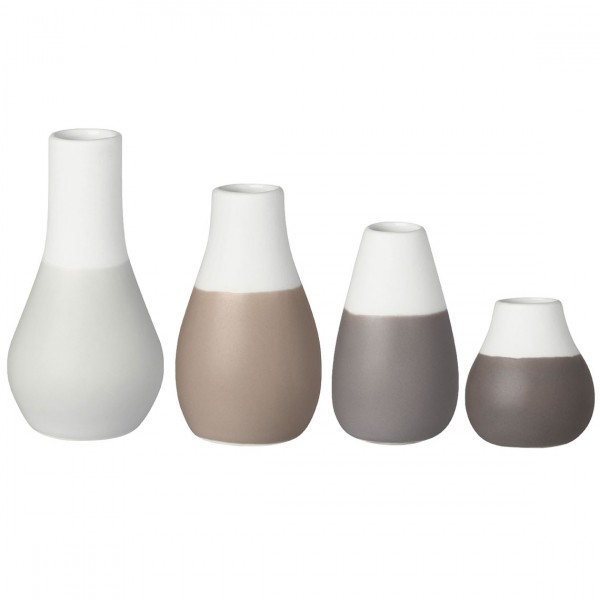 Räder Mini-Vasen im 4er Set in Grau