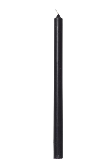 Ib Laursen dünne hohe Kerze, schwarz, 8 Stück