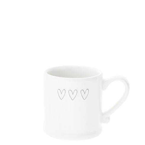 Bastion Collections Espressotasse White/3 Hearts in Grey