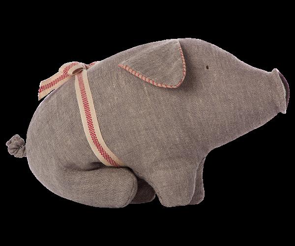 Maileg, Schweinchen / Pig grey, small