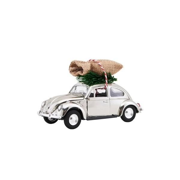 house doctor XMas Car / VW Käfer (chrome), mini