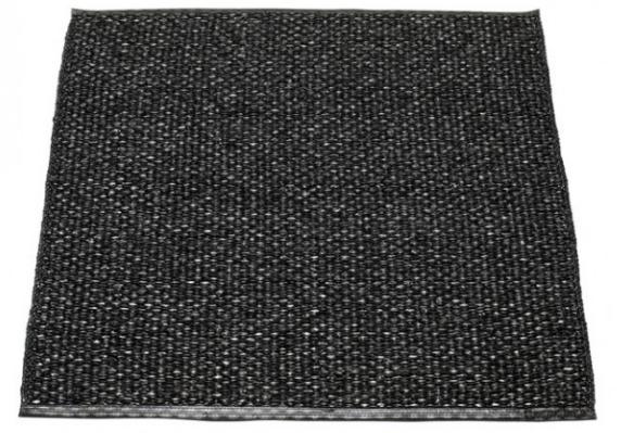Pappelina Kunststoffteppich SVEA, black, 70 x 90 cm
