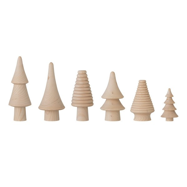 Bloomingville Holztannenbäume im 6er Set