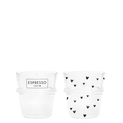 Bastion Collections Tumbler / Espresso Enjoy and Hearts im 2er Set