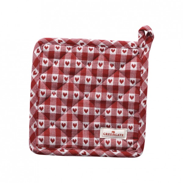 GreenGate Topflappen/Potholder Heart Petit Red im 2er Set