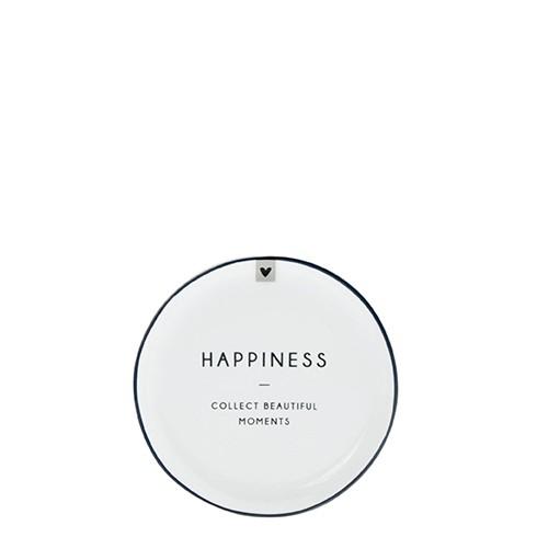 Bastion Collections Kleines Tellerchen/Teebeutelablage/Tea Tip White / Happiness