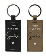Schlüsselanhänger You make me Smile, Black