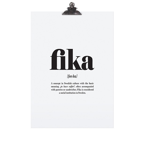 "Tafelgut Poster ""Fika"""