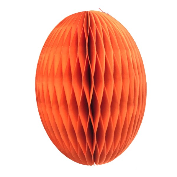 Papier-Osterei Swirl XXL, 30 cm, Dhalia - Koralle