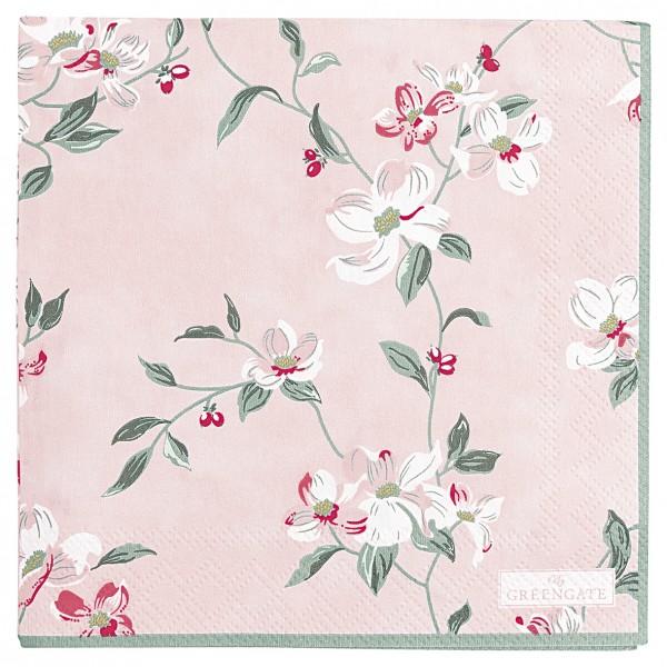 GreenGate Kleine Papierserviette Jolie pale pink