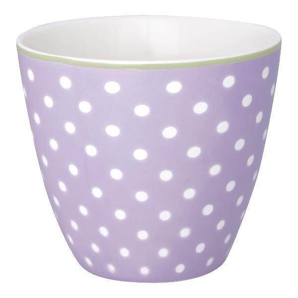 Greengate Latte Cup Spot lavendar