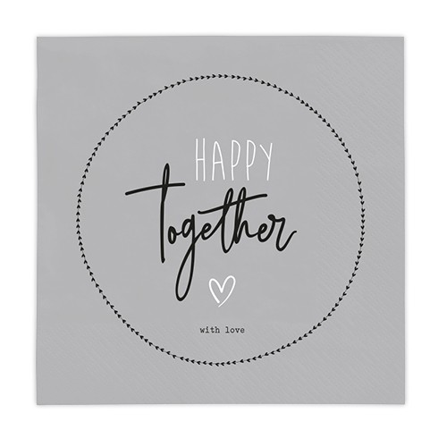 Bastion Collections Papierservietten Happy together