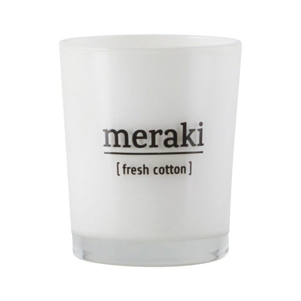 Meraki Duftkerze Fresh Cotton, klein