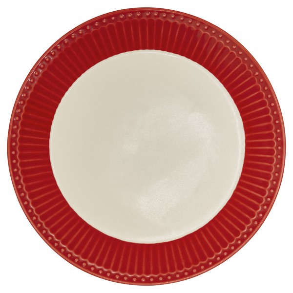 GreenGate Teller / Plate, Alice Red