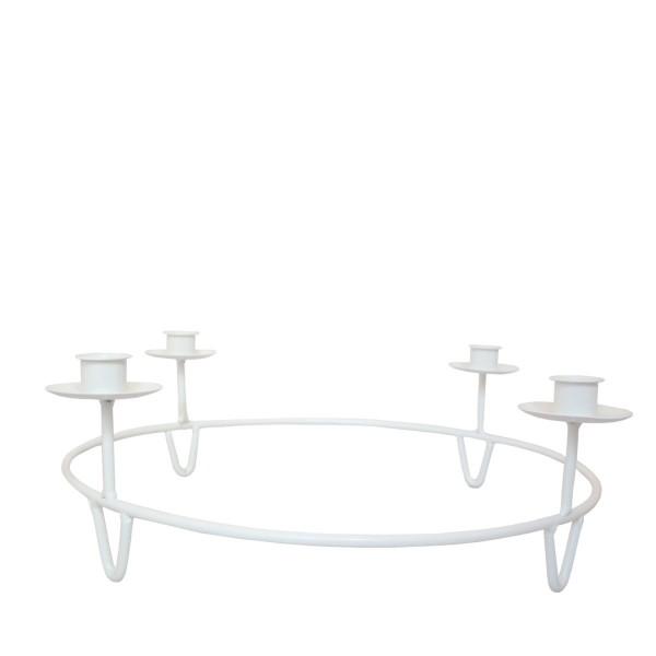 Storefactory Kerzenhalter Gullabo für 4 Kerzen, weiß